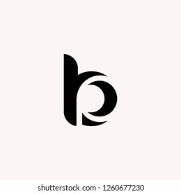letter BP, PB logo design template with business card. Vector