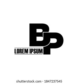 Letter BP simple logo design vector