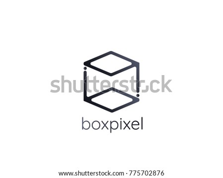 letter bq logo abstract alphabet sign stock vector royalty free