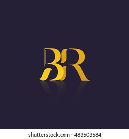 Letter BR that can be used as initial logo