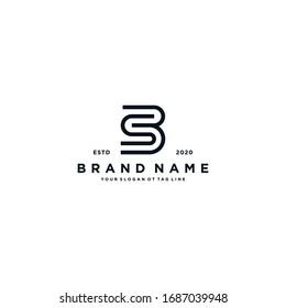 letter BS logo design vector template