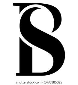 Letter BS Logo Vector format