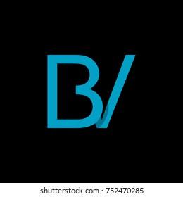 Letter BV logo design template.