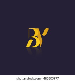 Letter BV that can be used as initial logo