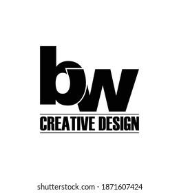 Letter BW simple logo kdesign vector