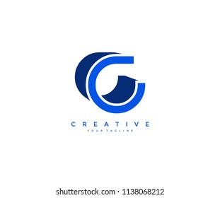 Letter C 3D Design Logo