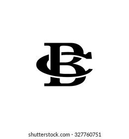 letter C and B monogram logo