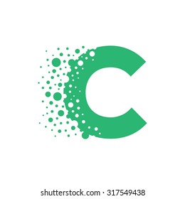 Letter C Bubbles Vector