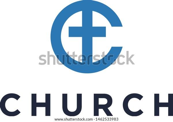 Letter C Church Logo Design Ideas Stock Vector (Royalty Free ...
