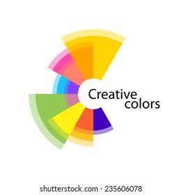 Letter C colorful creative logo concept template