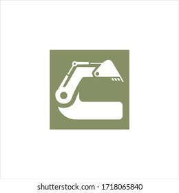 Letter C Excavator logo construction