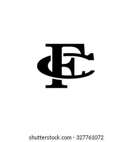 letter C and F monogram logo