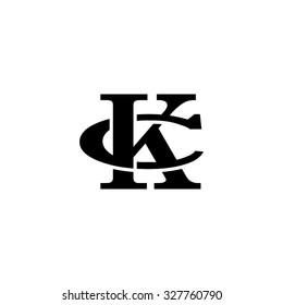letter C and K monogram logo