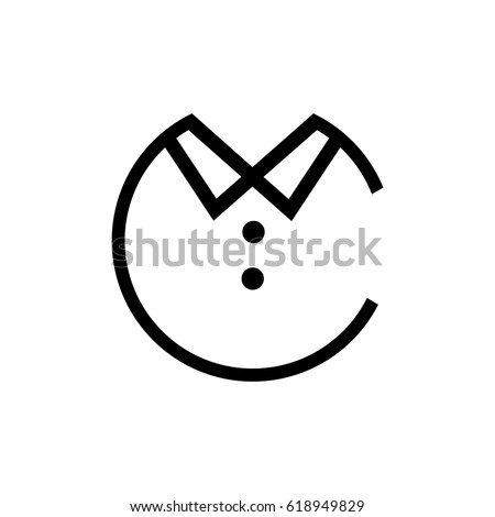 68cac0272 Letter C Logo Clothing Stock Vector (Royalty Free) 618949829 ...