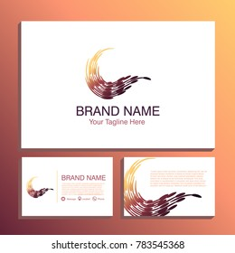 letter c, c logo, c letter design. icon. word logo. abstract types. business cards pack, front and back. vector. suitable for studio, beauty, salon, art and beauty company.