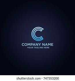 Letter C Logo Design template, Technology and digital abstract icon