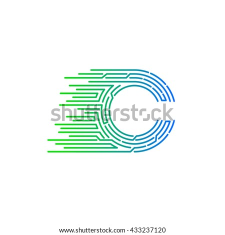 88aa9c712 Vetor stock de Letter C Logo Design ...