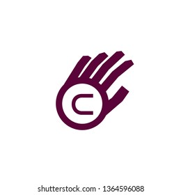 Letter C logo and Hand Logo