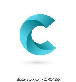 Letter C logo icon design template elements. Vector color sign.