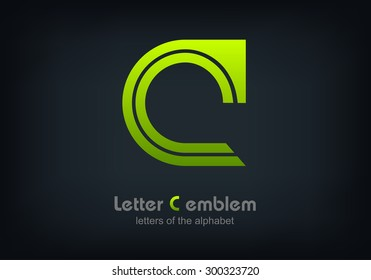 Letter C logo icon design typography template elements, ABC concept type as logotype, Leters of the alphabet, Vector illustration Eps 10