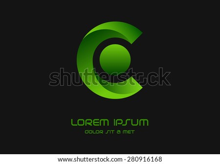 letter c logo icon design template stock vector royalty free