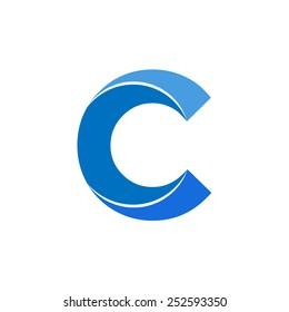 Letter C logo icon vector design,