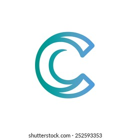 Letter C logo icon vector design,