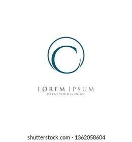 Letter C Logo. Initial Letter Design Vector Luxury Colors