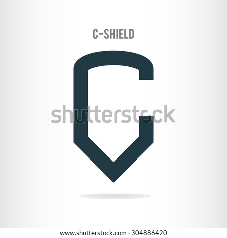 letter c logo template the letter c in the form of shield