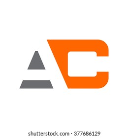 letter a and c logo vector.