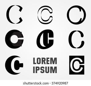 letter c logo alphabet logo design vector template stock vector
