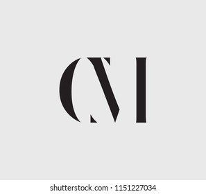 Letter C, M, CM, MC with cuts abstract alphabet, font, text, typography, initials design in dark gray color with light gray background icon for logo