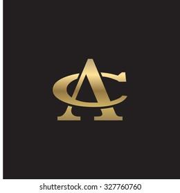 letter C and A monogram golden logo