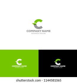Letter C Organic Logo Template