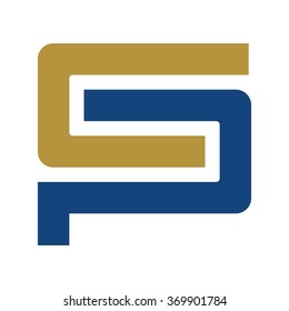 letter c and p logo vector.