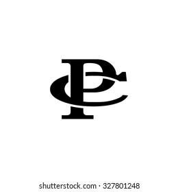 letter C and P monogram logo