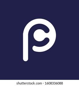 Letter C PC CP logo design template elements ICON