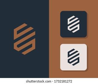Letter C S logo design. creative minimal monochrome monogram symbol. Universal elegant vector emblem. Premium business logotype. Graphic alphabet symbol for corporate identity
