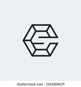 Letter C & S monogram logo in hexagon shape.