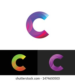 Letter C simple logo icon design vector