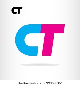 Letter C and T logo template