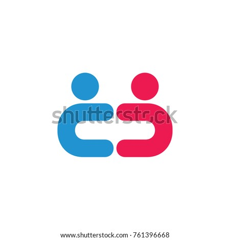 Letter C C Two Kid Symbol Stock Vector Royalty Free 761396668