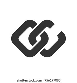 letter c and c vector logo.