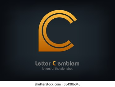 Letter C Vector logo, ABC concept type as logotype, Letters of the alphabet