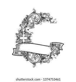 Letter C Victorian