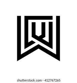 letter C and W logo vector.