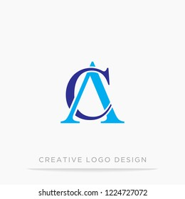 letter CA design vector logo template