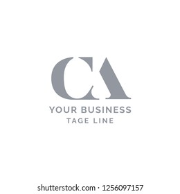 Letter CA logo template. Abstract initial letter CA AC. minimal awesome trendy professional logo design template.