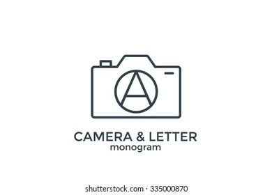 Letter A and camera monogram logo.