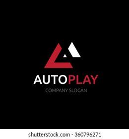 A letter car audio services logo template